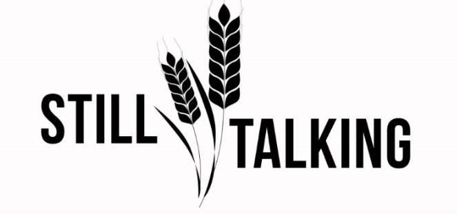 Still Talking logo words with grain